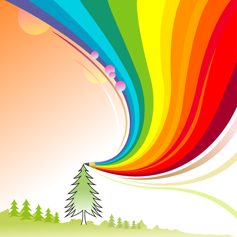 http://www.dreamstime.com/royalty-free-stock-photo-alpine-trees-abstract-rainbow-pencil-series-image20905405